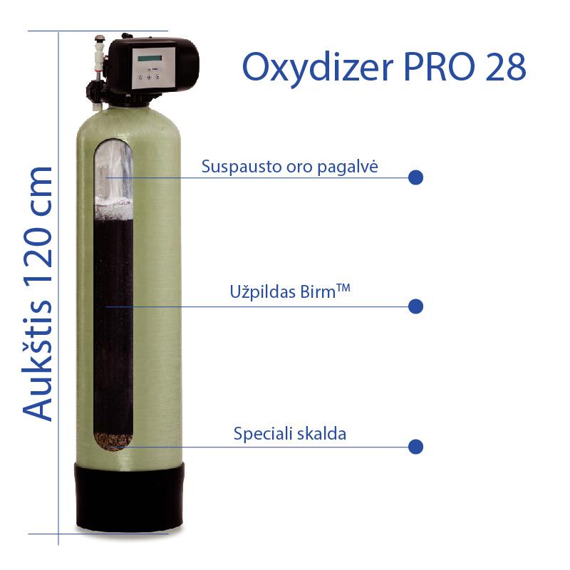 Nugeležinimo filtras Oxydizer PRO 28