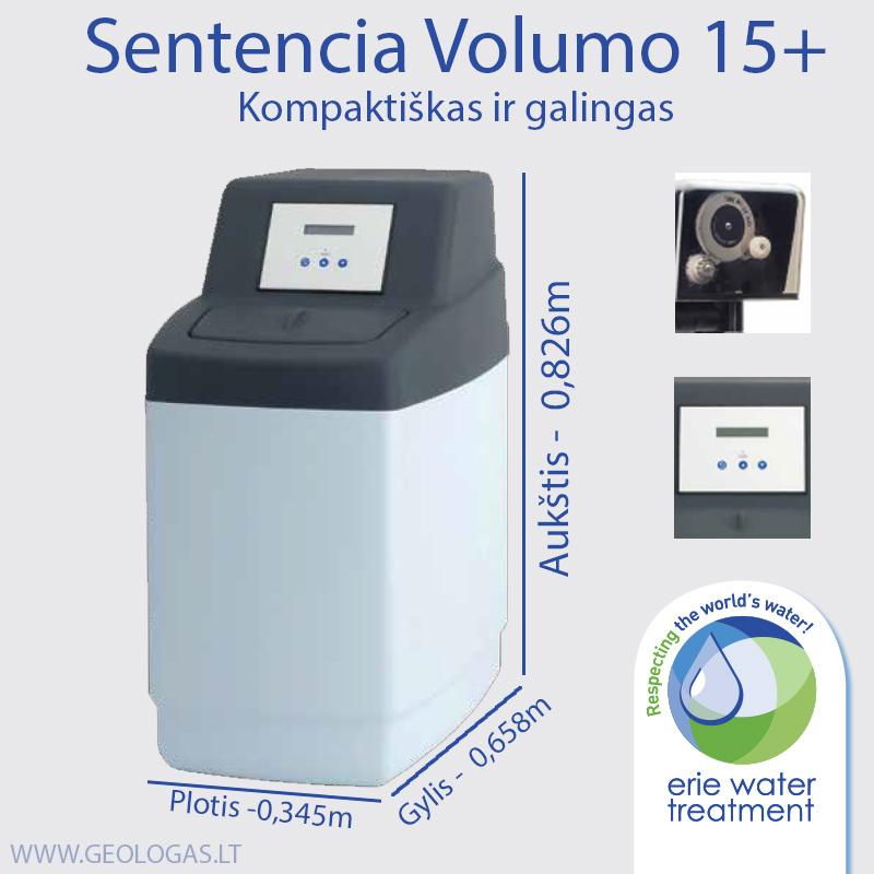 Volumo 15 vandens minkštinimo filtras