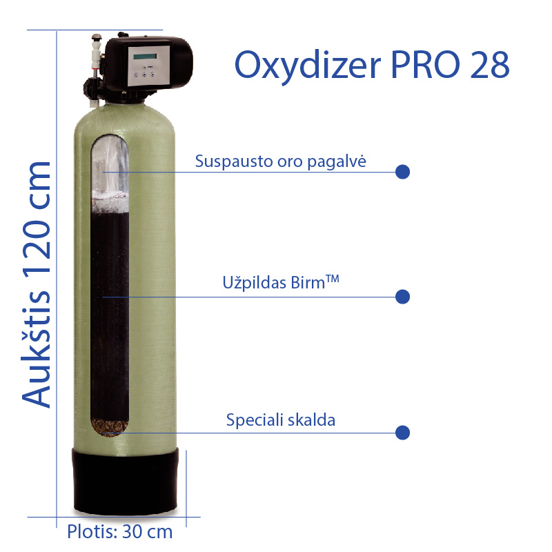 Vandens nugeležinimo - geležies šalinimo filtras Oxydizer 28 PRO