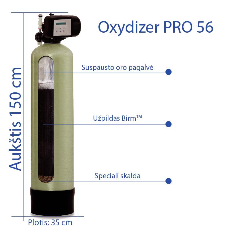 Geležies vandenyje šalinimo filtras Oxydizer 56 PRO. Automatinis nugeležintojas